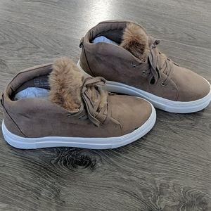 Taupe MIA high top sneakers